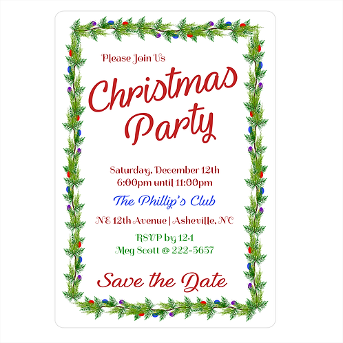Celebration Christmas Save the Date Magnet