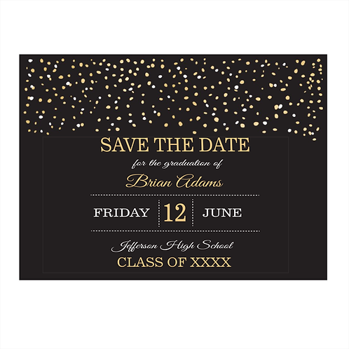Glistening Graduation Save the Date Magnet