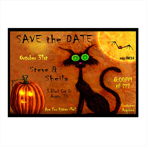 Are You Kitten Me Halloween Save The Date Magnet
