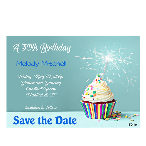 Cupcake and Sprinkles Birthday Save The Date Magnet