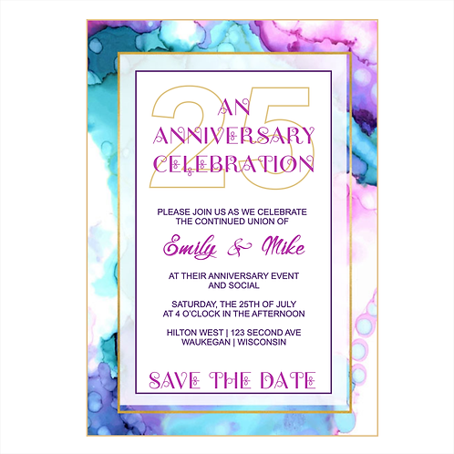 25 Years and Counting Anniversary Save the Date Magnet