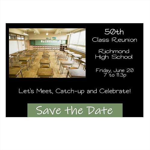 Circa 60s Class Reunion Save The Date Magnets