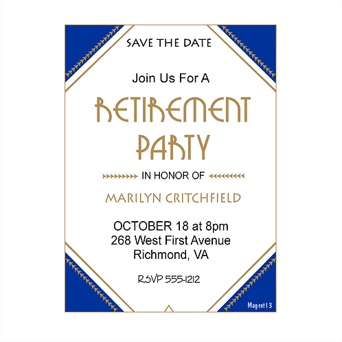 Analytic Angles Retirement Save The Date Magnet