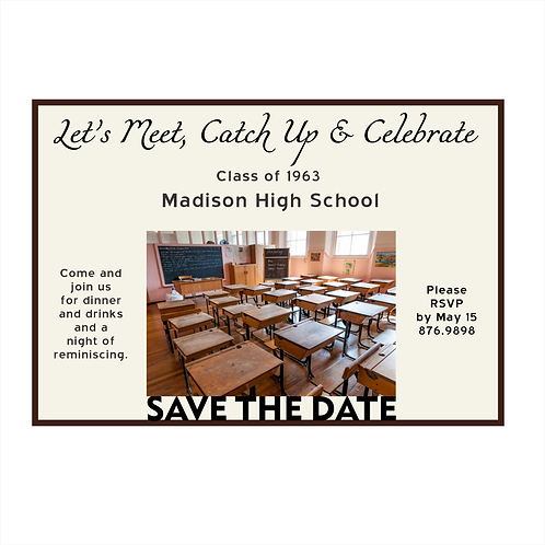 Retro Class Reunion Save The Date Magnets