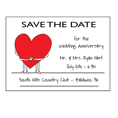One Heart Anniversary Save the Date Magnet