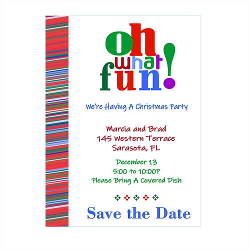 Oh What Fun Christmas Save the Date Magnet