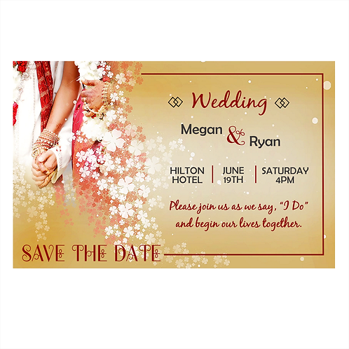 In the Ceremonial Tradition Wedding Save the Date Magnets
