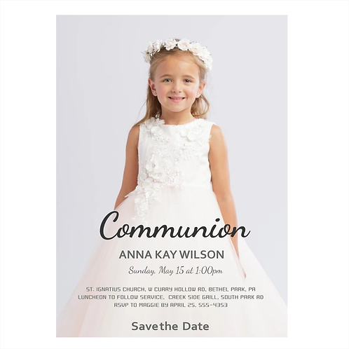 Faithful Photo Communion Save the Date Magnet