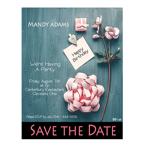 Party Pink Birthday Save the Date Magnet