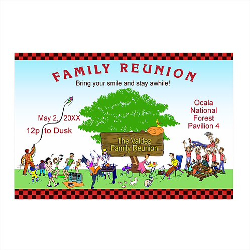 Annual Summer Family Reunion Save the Date Magnets