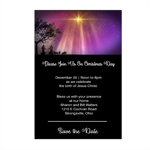 Follow the Star Christmas Save the Date Magnet
