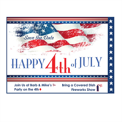 Happy 4th Party Save the Date Magnet