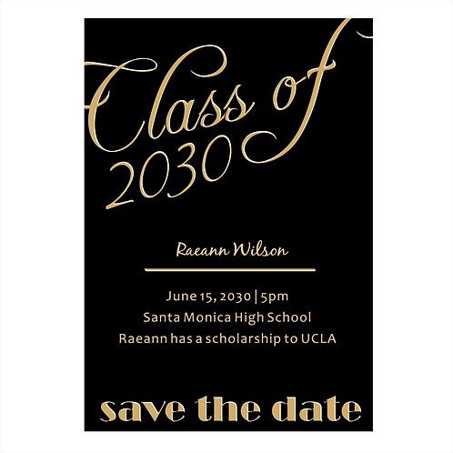 A Stylish Font Graduation Save The Date Magnet