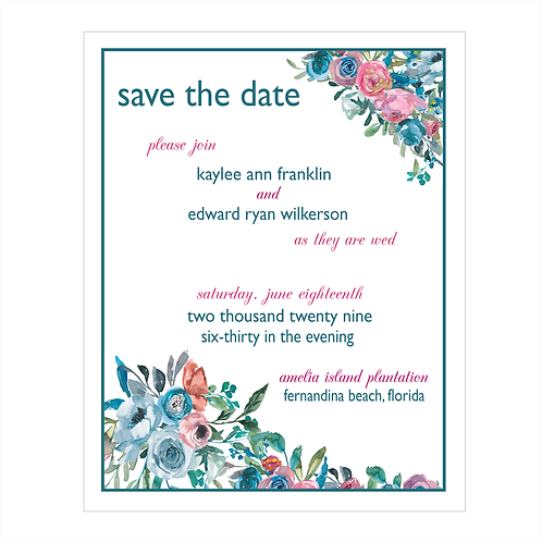 Pastel Roses Wedding Save the Date Magnets