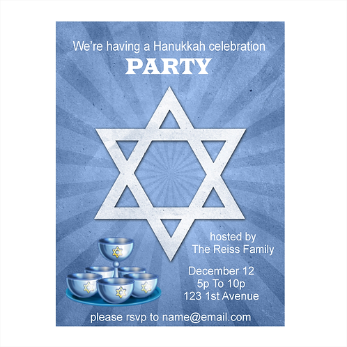 Hanukkah Party Save the Date Magnet