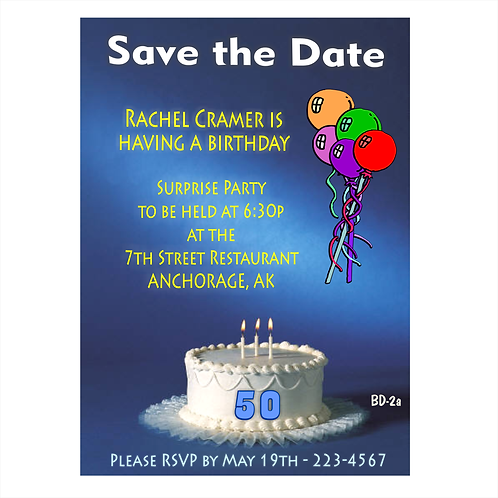 Surprise 50th Happy Birthday Save The Date Magnet