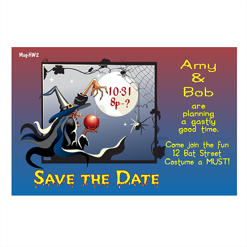 Ghastly Halloween Save The Date Magnets