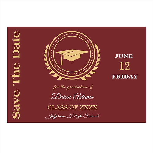 Burgandy Graduation Save the Date Magnet
