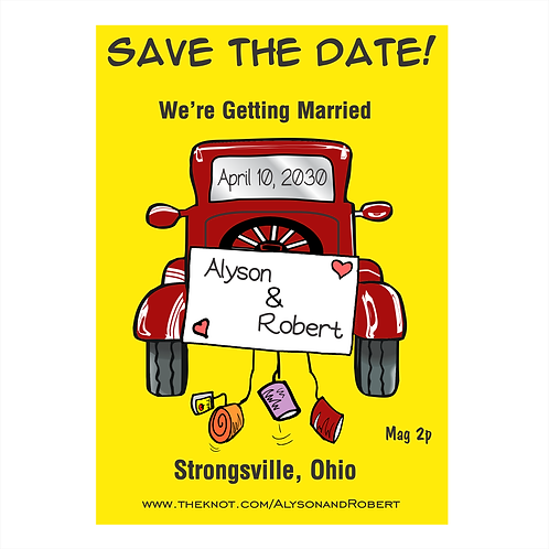 Antique Truck Get-Away Wedding Save the Date Magnets