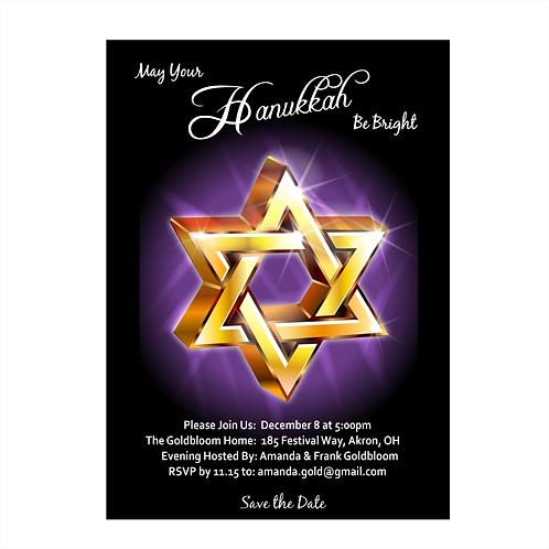 Celebrating Hanukkah Save the Date Magnet