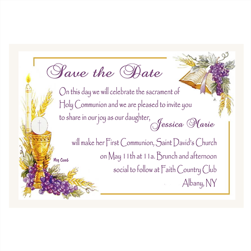 Sacrament of Communion Save The Date Magnets