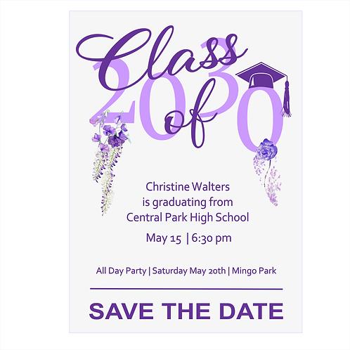 Embellished Graduation Save The Date Magnet
