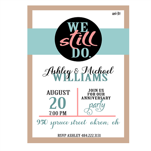 We Still Do Anniversary Party Save the Date Magnet