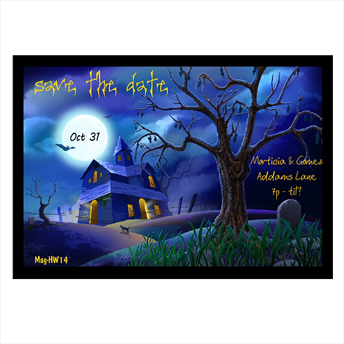 Eerie Spooky Night Halloween Save The Date Magnets