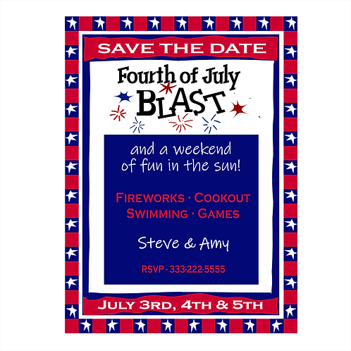 4th of July Blast Save the Date Magnet