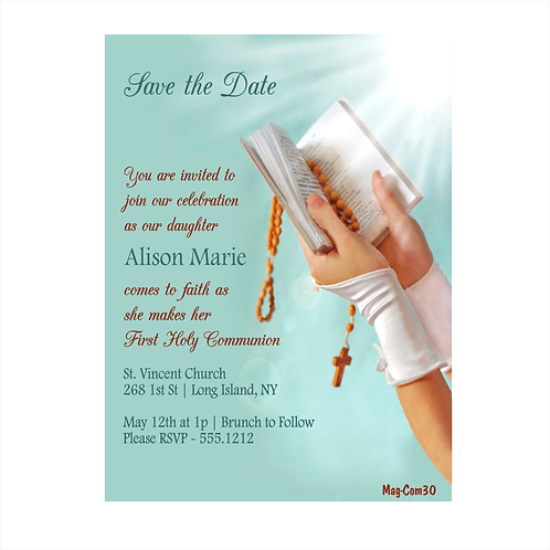 The Light of the Lord Communion Save The Date Magnet