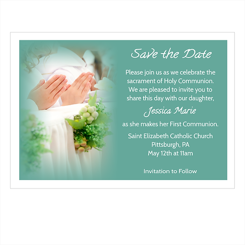 Blessings of a Holy Communion Save The Date Magnet