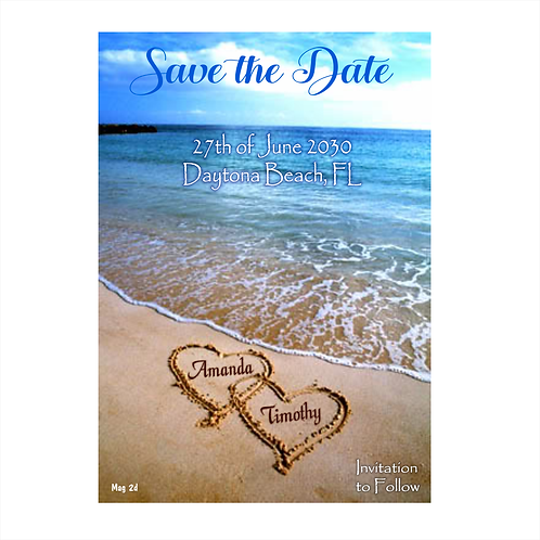 At The Beach Wedding Save the Date Magnet