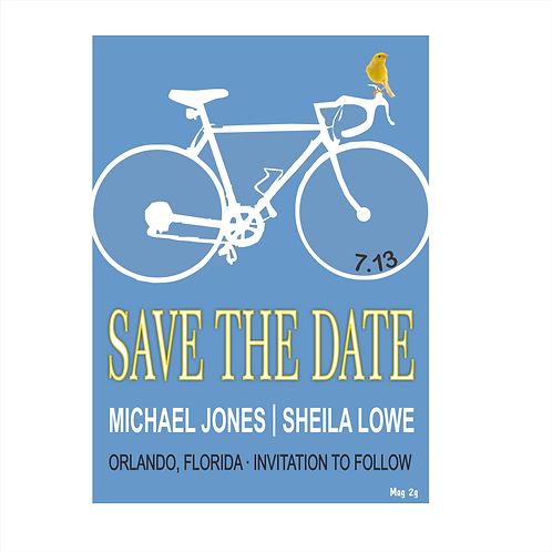 Biking With You Wedding Save the Date Magnet