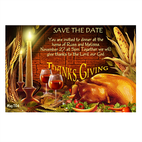 Festive Occasion Thanksgiving Save The Date Magnet