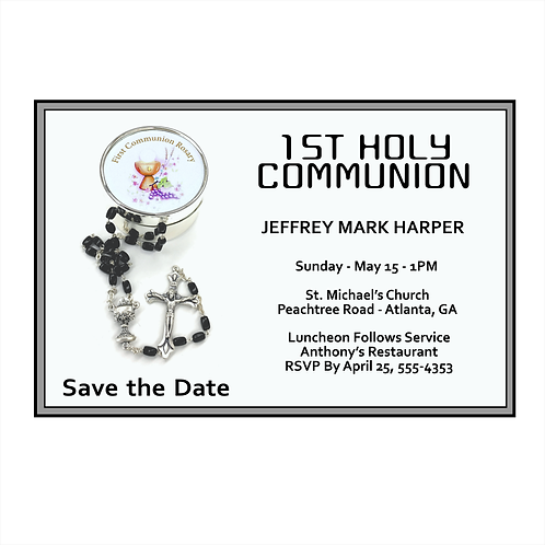 Simple Communion Save The Date Magnet