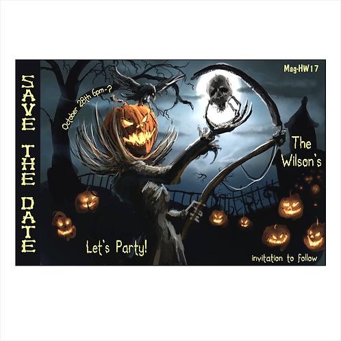 Shrunken Skull Halloween Save The Date Magnets
