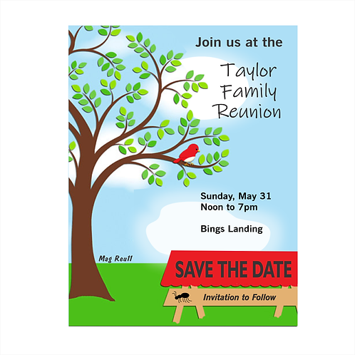 Spring Reunion Save The Date Magnets