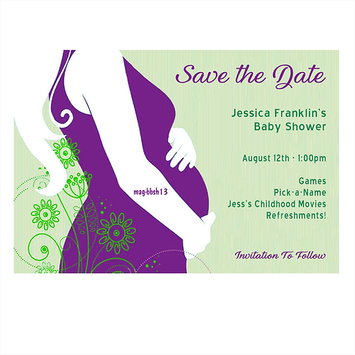 Lavender Baby Shower Save the Date Magnet