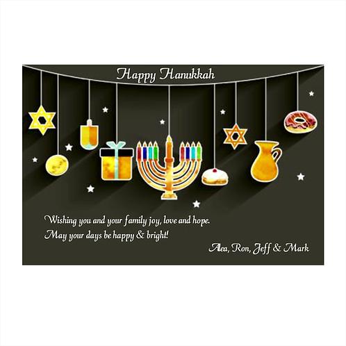 We Wish You Love Hanukkah Card Magnet