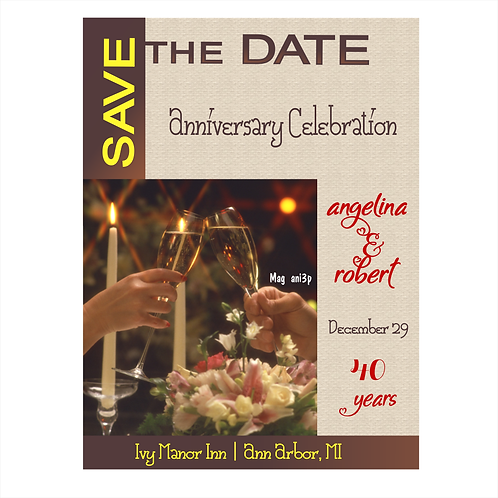 Anniversary Celebration Save the Date Magnet