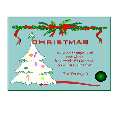 Sending Warm Thoughts Christmas Card Magnet