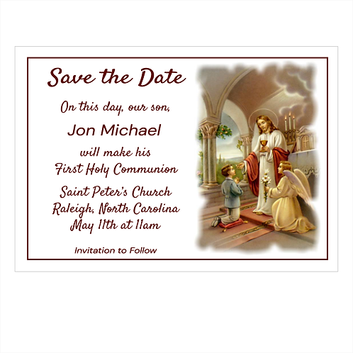 Thank You Jesus Communion Save The Date Magnet
