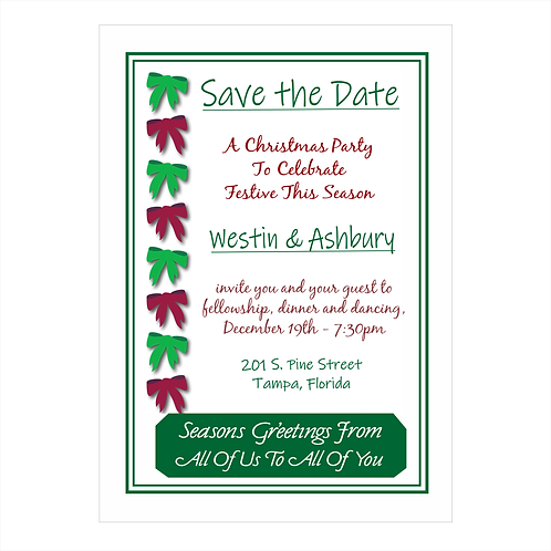 The Company Invitation Christmas Save the Date Magnet