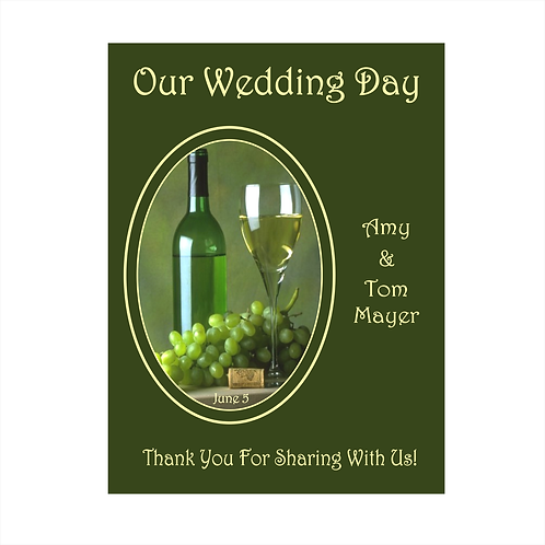 Thanks for Sharing Wedding Wine Bottle Label