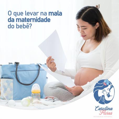 O que levar na mala da maternidade do bebê?