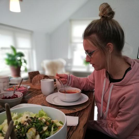 genieten van het eten