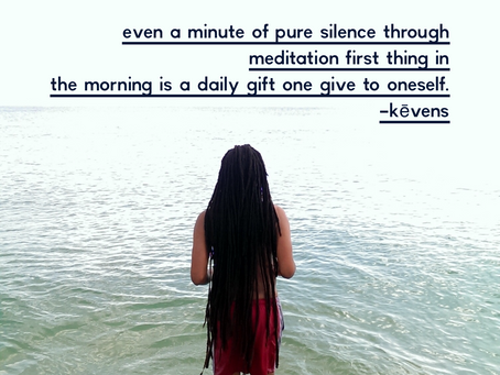 Even a minute of pure silence through meditation first thing in the morning is...