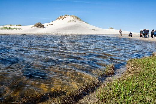 Laguna, lagoa, de Xalfas en Louro, Muros (A Coruña) espacio LIC al que está ligado un complejo dunar atlántico