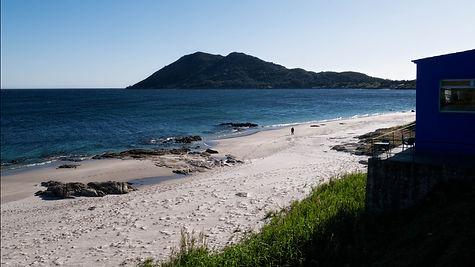 Desde el camping A Vouga, preciosa playa, preciosas vistas, en Louro, Muros (A Coruña)