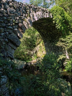 Para salvar el río Mao en época medieval, tal vez romana, se construyó el Puente de Conceliñas. De una sola bóveda en arco de medio punto, permitía el paso holgadamente de carros y personas. Parada de Sil. Foto de Photoperiplo